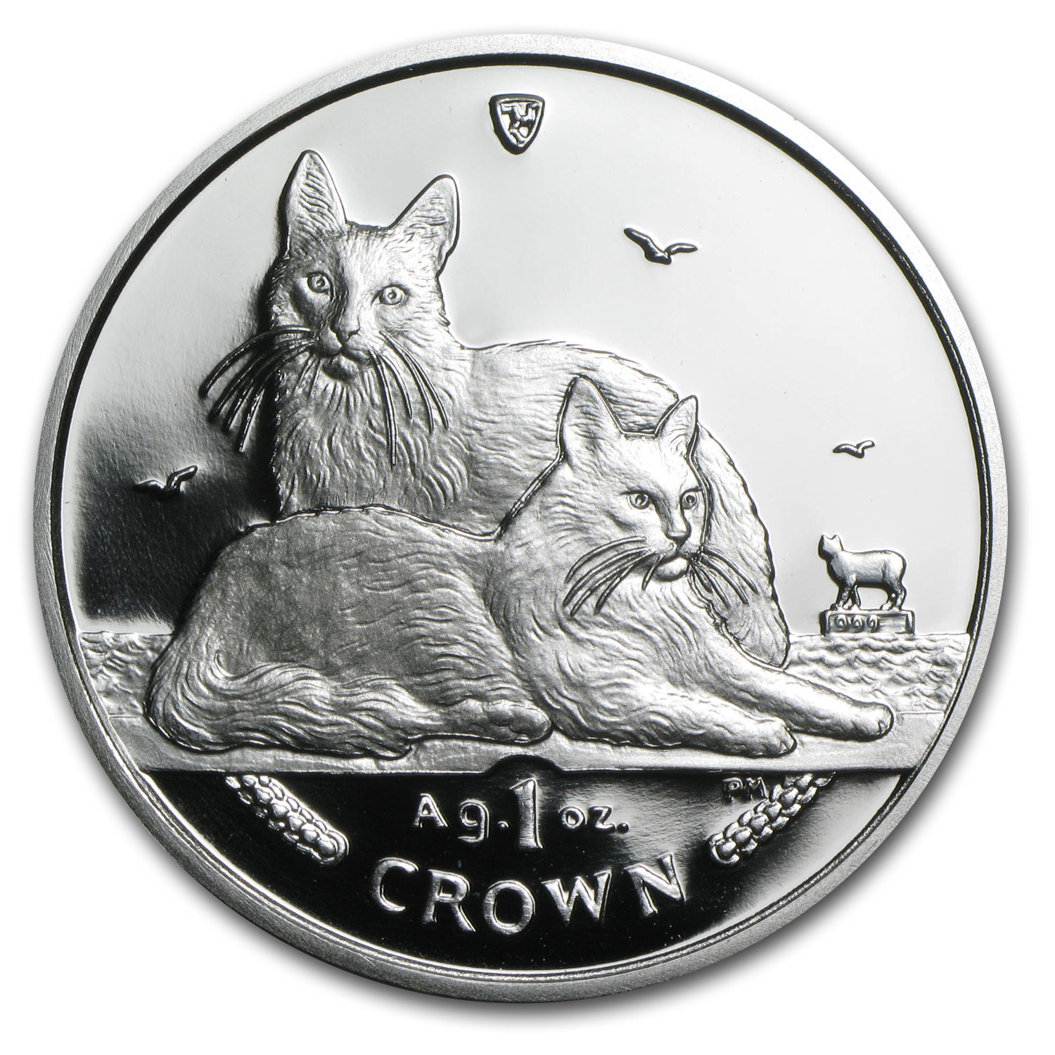 Isle of Man 2011 1 Crown Silver Proof Turkish Angora Cat